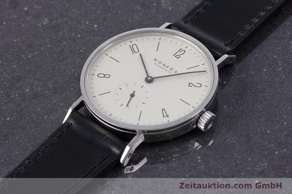 Used luxury watch Nomos Tangente steel manual winding Kal. ETA 7001  | 160163 01