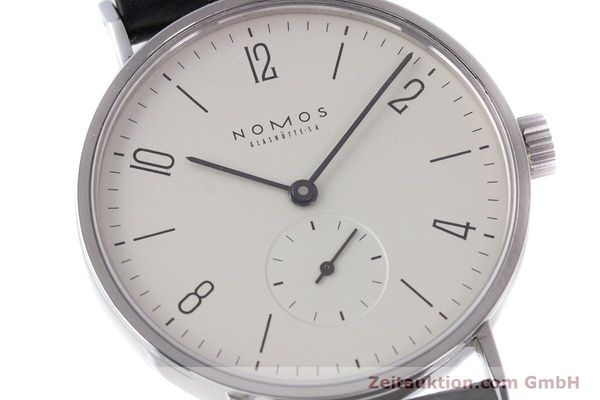 Used luxury watch Nomos Tangente steel manual winding Kal. ETA 7001  | 160163 02