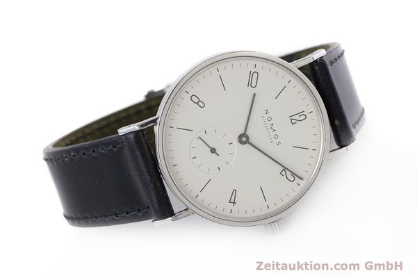 Used luxury watch Nomos Tangente steel manual winding Kal. ETA 7001  | 160163 03
