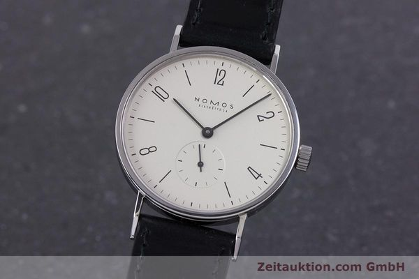 Used luxury watch Nomos Tangente steel manual winding Kal. ETA 7001  | 160163 04