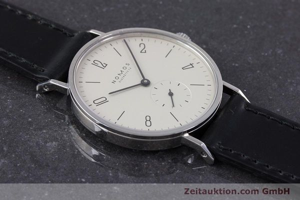 Used luxury watch Nomos Tangente steel manual winding Kal. ETA 7001  | 160163 14