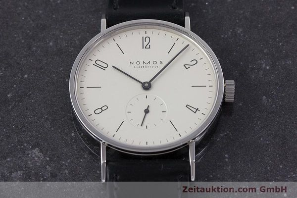 Used luxury watch Nomos Tangente steel manual winding Kal. ETA 7001  | 160163 15