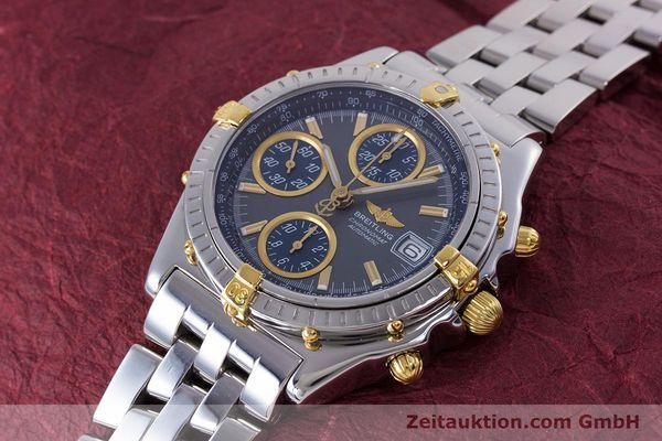 Used luxury watch Breitling Chronomat chronograph steel / gold automatic Kal. B13 ETA 7750 Ref. B13050.1  | 160180 01