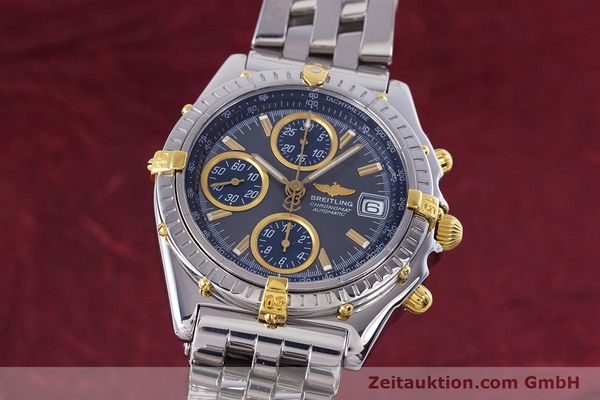 Used luxury watch Breitling Chronomat chronograph steel / gold automatic Kal. B13 ETA 7750 Ref. B13050.1  | 160180 04
