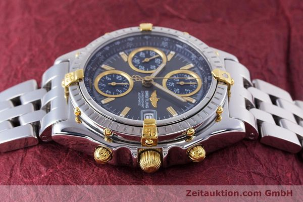 Used luxury watch Breitling Chronomat chronograph steel / gold automatic Kal. B13 ETA 7750 Ref. B13050.1  | 160180 05