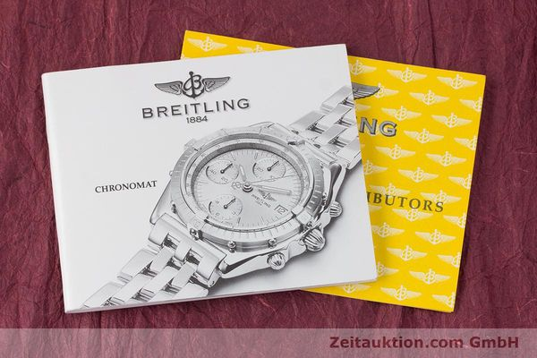 Used luxury watch Breitling Chronomat chronograph steel / gold automatic Kal. B13 ETA 7750 Ref. B13050.1  | 160180 12