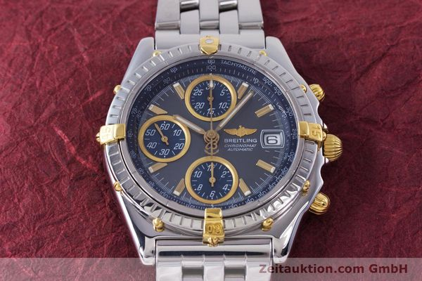 Used luxury watch Breitling Chronomat chronograph steel / gold automatic Kal. B13 ETA 7750 Ref. B13050.1  | 160180 15