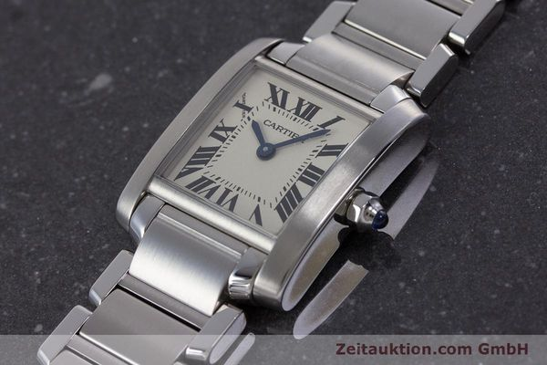 Used luxury watch Cartier Tank Francaise steel quartz Kal. 057 Ref. 2384  | 160185 01
