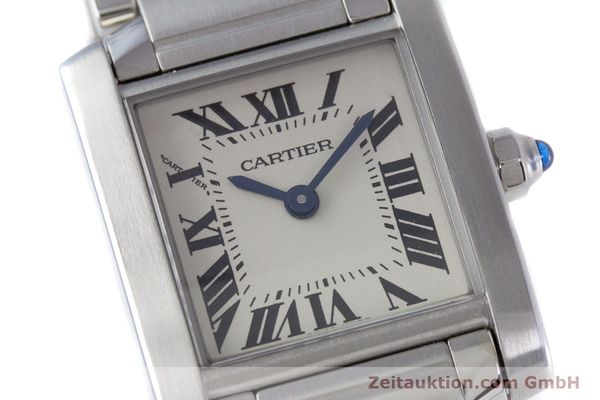 Used luxury watch Cartier Tank Francaise steel quartz Kal. 057 Ref. 2384  | 160185 02