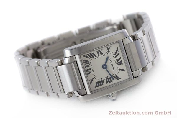 Used luxury watch Cartier Tank Francaise steel quartz Kal. 057 Ref. 2384  | 160185 03