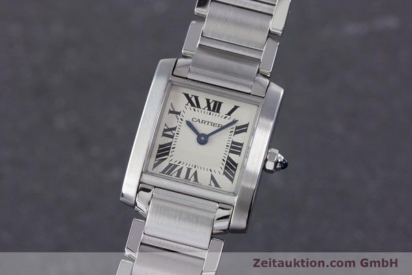 Used luxury watch Cartier Tank Francaise steel quartz Kal. 057 Ref. 2384  | 160185 04