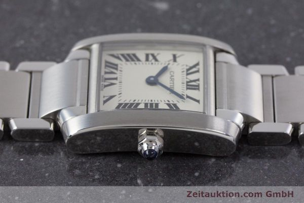 Used luxury watch Cartier Tank Francaise steel quartz Kal. 057 Ref. 2384  | 160185 05