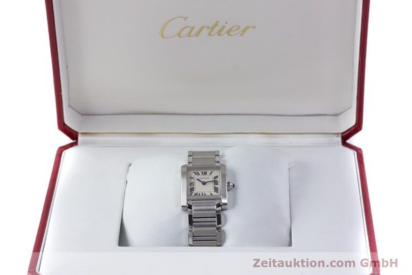 Used luxury watch Cartier Tank Francaise steel quartz Kal. 057 Ref. 2384  | 160185 07