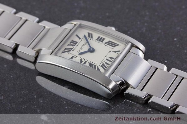 Used luxury watch Cartier Tank Francaise steel quartz Kal. 057 Ref. 2384  | 160185 14