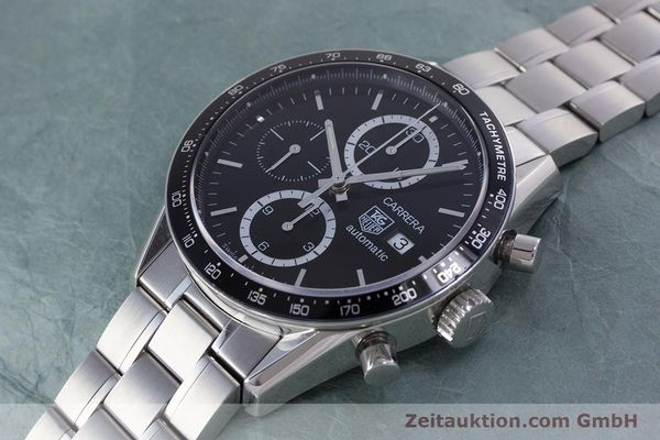 Used luxury watch Tag Heuer Carrera chronograph steel automatic Kal. TH 16 ETA 7750 Ref. CV2010-3  | 160192 01