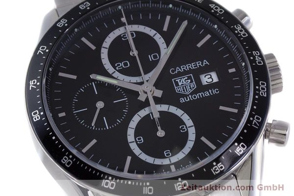 Used luxury watch Tag Heuer Carrera chronograph steel automatic Kal. TH 16 ETA 7750 Ref. CV2010-3  | 160192 02