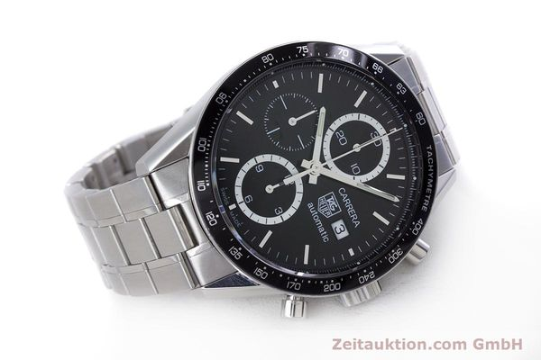 Used luxury watch Tag Heuer Carrera chronograph steel automatic Kal. TH 16 ETA 7750 Ref. CV2010-3  | 160192 03