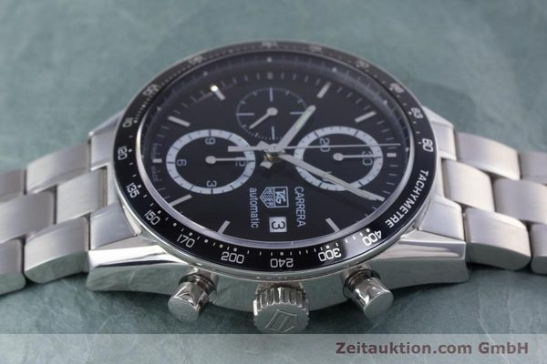 Used luxury watch Tag Heuer Carrera chronograph steel automatic Kal. TH 16 ETA 7750 Ref. CV2010-3  | 160192 05