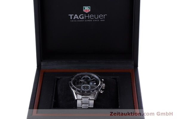 Used luxury watch Tag Heuer Carrera chronograph steel automatic Kal. TH 16 ETA 7750 Ref. CV2010-3  | 160192 07