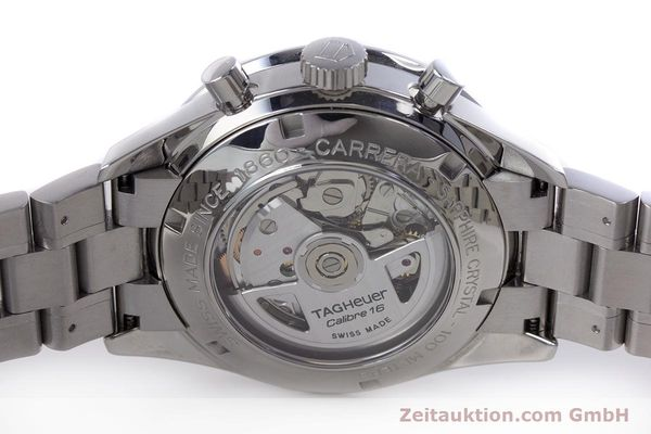 Used luxury watch Tag Heuer Carrera chronograph steel automatic Kal. TH 16 ETA 7750 Ref. CV2010-3  | 160192 09