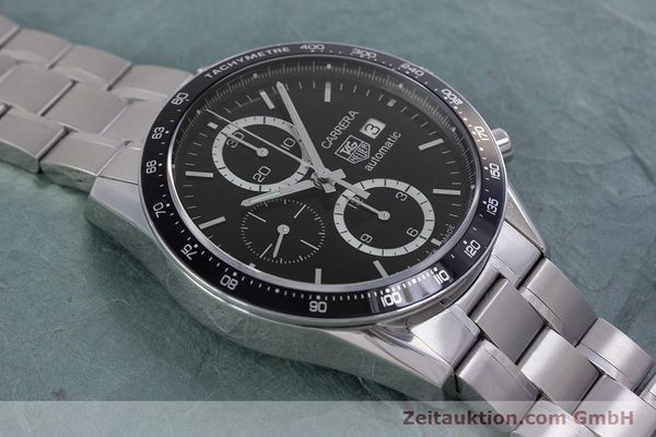 Used luxury watch Tag Heuer Carrera chronograph steel automatic Kal. TH 16 ETA 7750 Ref. CV2010-3  | 160192 15