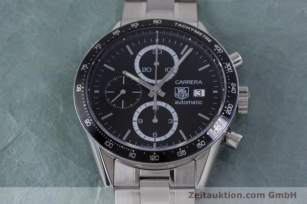 Used luxury watch Tag Heuer Carrera chronograph steel automatic Kal. TH 16 ETA 7750 Ref. CV2010-3  | 160192 16