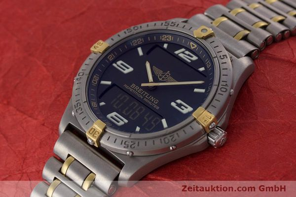 Used luxury watch Breitling Aerospace chronograph titanium / gold quartz Kal. B65 ETA E10391 Ref. F65062  | 160193 01