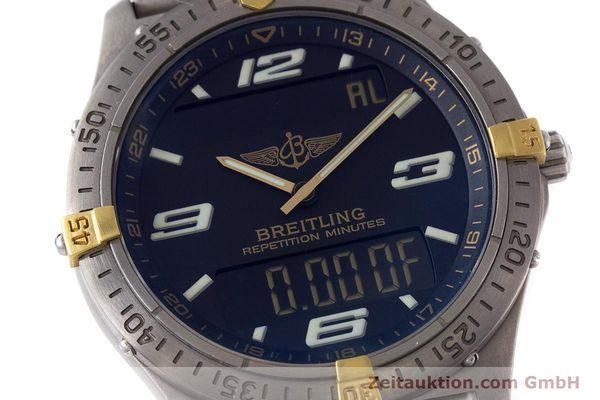 Used luxury watch Breitling Aerospace chronograph titanium / gold quartz Kal. B65 ETA E10391 Ref. F65062  | 160193 02