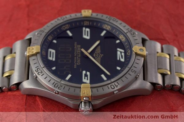 Used luxury watch Breitling Aerospace chronograph titanium / gold quartz Kal. B65 ETA E10391 Ref. F65062  | 160193 05