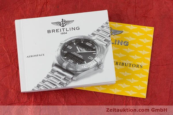 Used luxury watch Breitling Aerospace chronograph titanium / gold quartz Kal. B65 ETA E10391 Ref. F65062  | 160193 12