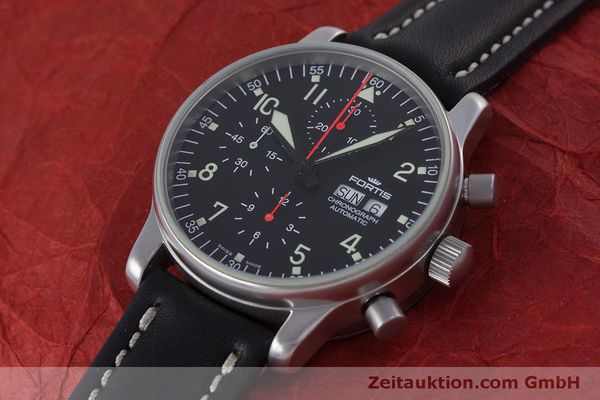 Used luxury watch Fortis Flieger Chronograph chronograph steel automatic Kal. ETA 7750 Ref. 597.10.141  | 160194 01