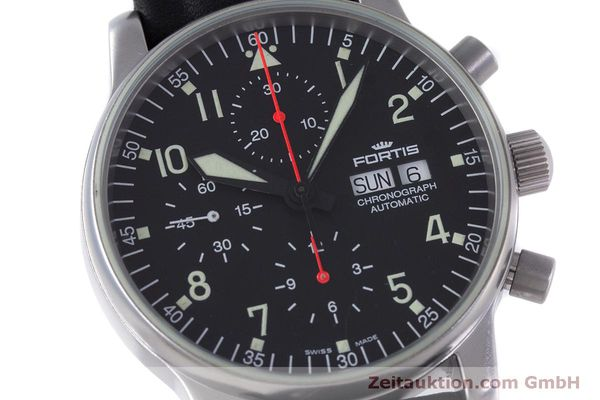 Used luxury watch Fortis Flieger Chronograph chronograph steel automatic Kal. ETA 7750 Ref. 597.10.141  | 160194 02