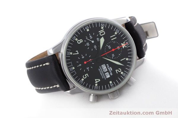 Used luxury watch Fortis Flieger Chronograph chronograph steel automatic Kal. ETA 7750 Ref. 597.10.141  | 160194 03