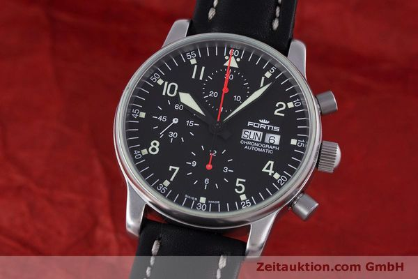 Used luxury watch Fortis Flieger Chronograph chronograph steel automatic Kal. ETA 7750 Ref. 597.10.141  | 160194 04