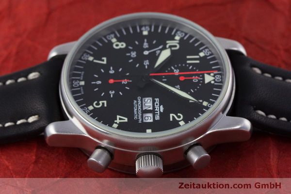 Used luxury watch Fortis Flieger Chronograph chronograph steel automatic Kal. ETA 7750 Ref. 597.10.141  | 160194 05