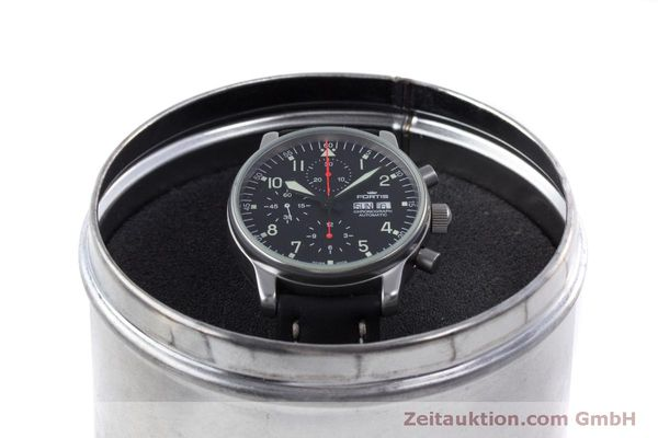 Used luxury watch Fortis Flieger Chronograph chronograph steel automatic Kal. ETA 7750 Ref. 597.10.141  | 160194 07