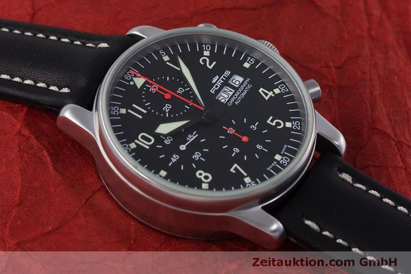 Used luxury watch Fortis Flieger Chronograph chronograph steel automatic Kal. ETA 7750 Ref. 597.10.141  | 160194 13