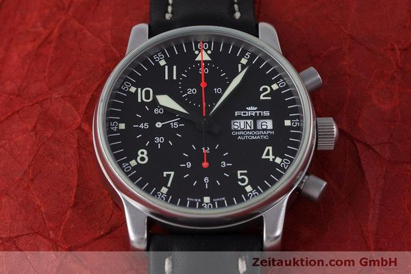 Used luxury watch Fortis Flieger Chronograph chronograph steel automatic Kal. ETA 7750 Ref. 597.10.141  | 160194 14