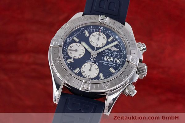 Used luxury watch Breitling Superocean Chronograph chronograph steel automatic Kal. B13 ETA 7750 Ref. A13340  | 160203 04