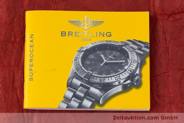 Used luxury watch Breitling Superocean Chronograph chronograph steel automatic Kal. B13 ETA 7750 Ref. A13340  | 160203 13