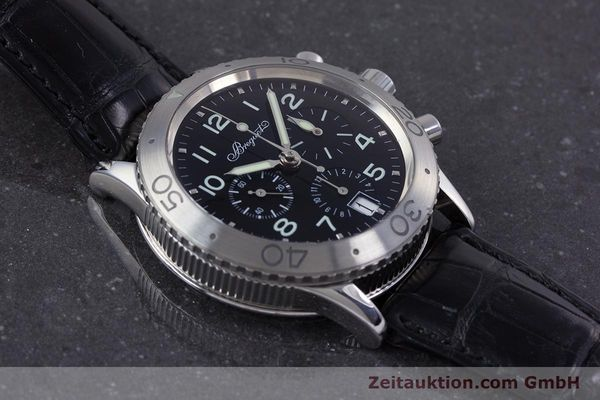 Used luxury watch Breguet Type XX chronograph steel automatic Kal. 582 Ref. 3820  | 160209 14