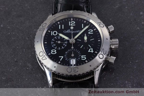 Used luxury watch Breguet Type XX chronograph steel automatic Kal. 582 Ref. 3820  | 160209 15