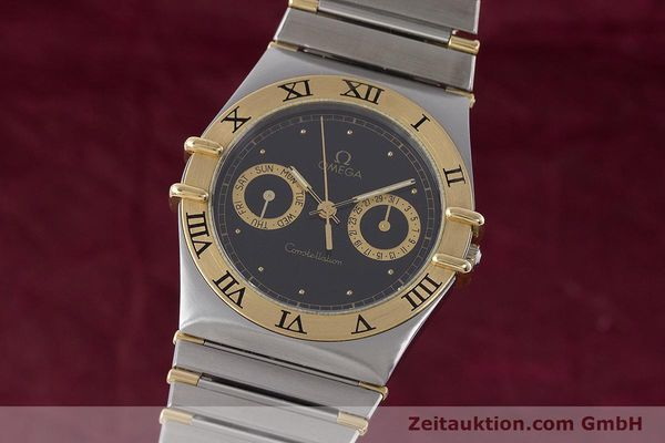 Used luxury watch Omega Constellation steel / gold quartz Kal. 1445 ETA 255.472  | 160212 04
