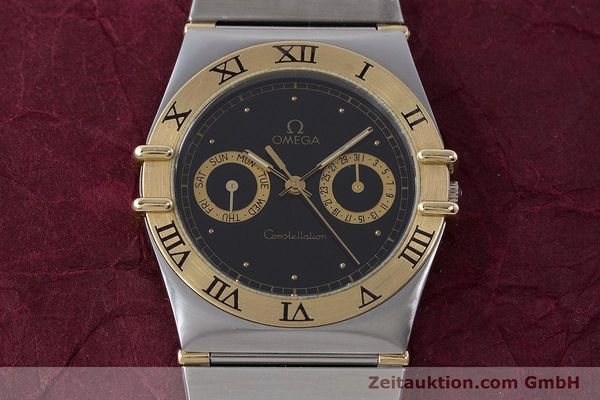 Used luxury watch Omega Constellation steel / gold quartz Kal. 1445 ETA 255.472  | 160212 14