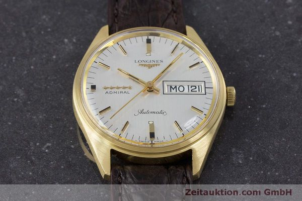 Used luxury watch Longines Admiral 18 ct gold automatic Kal. 507 Ref. 8184A VINTAGE  | 160213 14