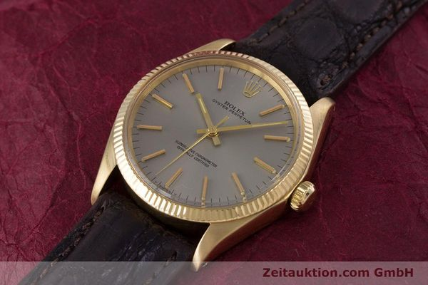 Used luxury watch Rolex Oyster Perpetual 18 ct gold automatic Kal. 1570 Ref. 1005  | 160216 01