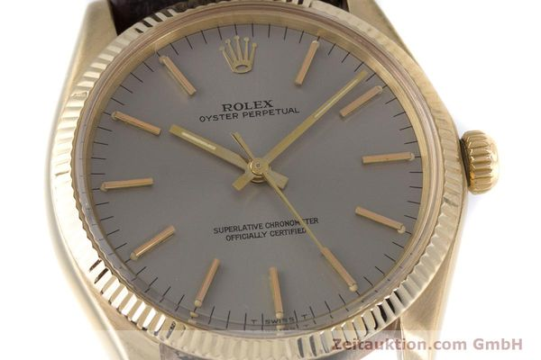 Used luxury watch Rolex Oyster Perpetual 18 ct gold automatic Kal. 1570 Ref. 1005  | 160216 02