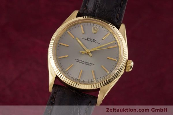 Used luxury watch Rolex Oyster Perpetual 18 ct gold automatic Kal. 1570 Ref. 1005  | 160216 04