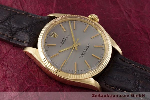 Used luxury watch Rolex Oyster Perpetual 18 ct gold automatic Kal. 1570 Ref. 1005  | 160216 13