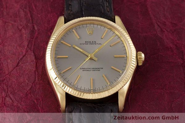 Used luxury watch Rolex Oyster Perpetual 18 ct gold automatic Kal. 1570 Ref. 1005  | 160216 14